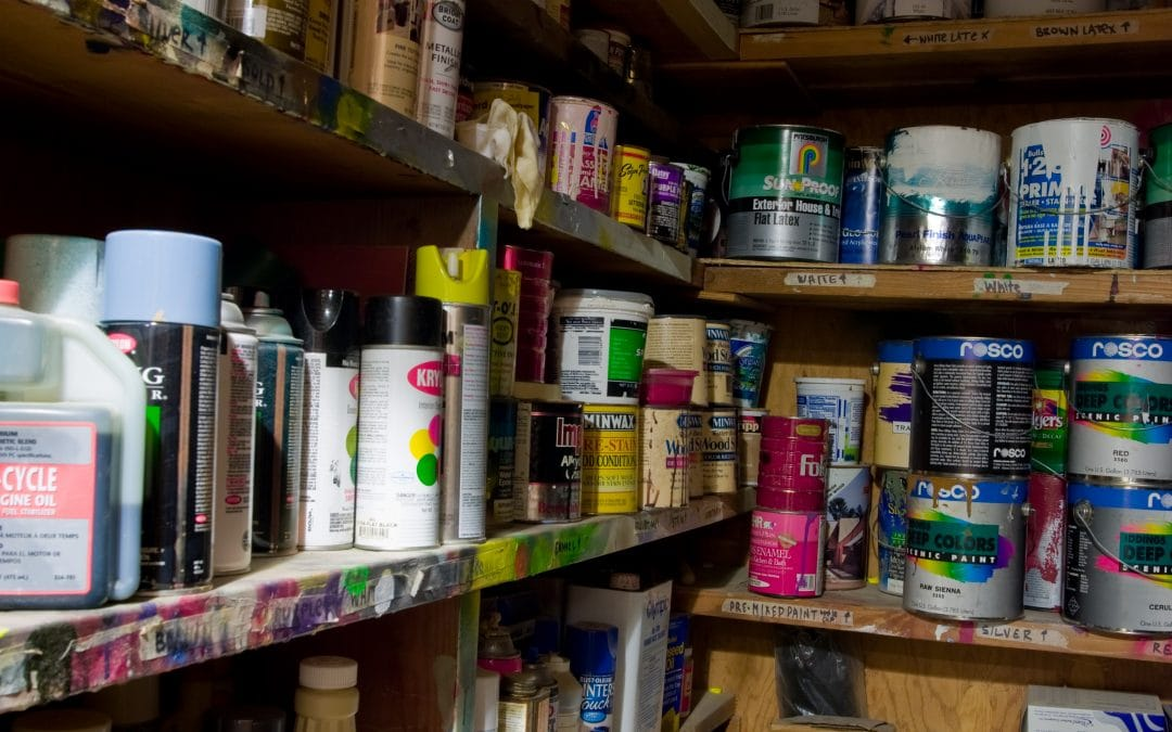 How do I safely dispose of paint and chemicals?