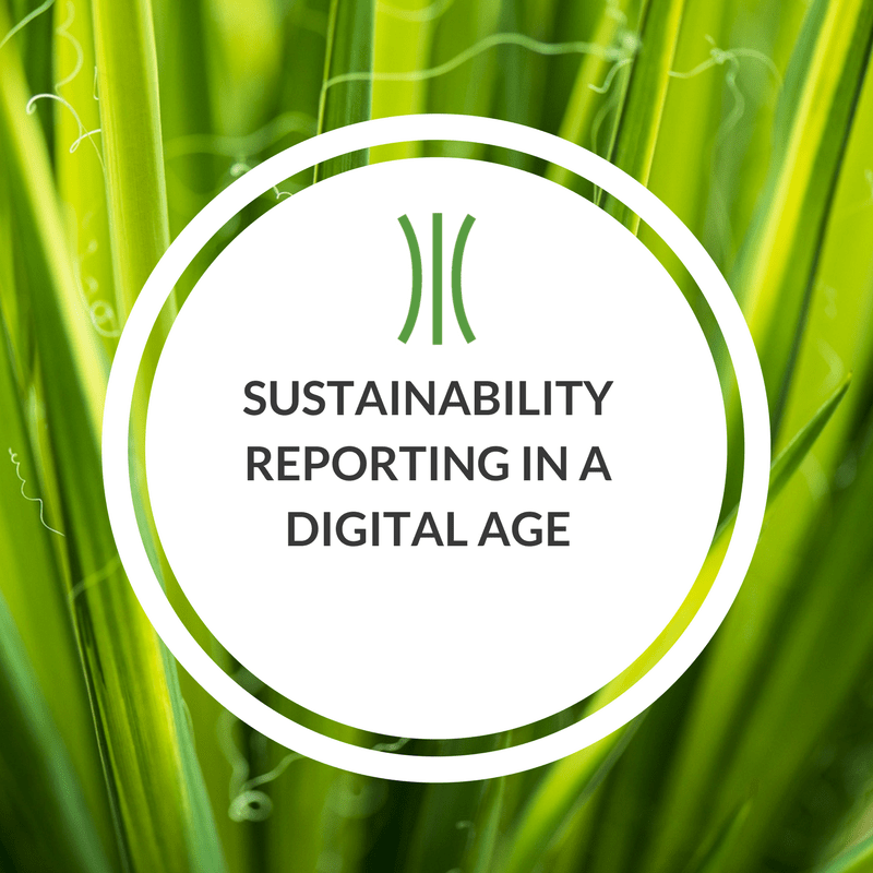 Sustainability Reporting in a Digital Age