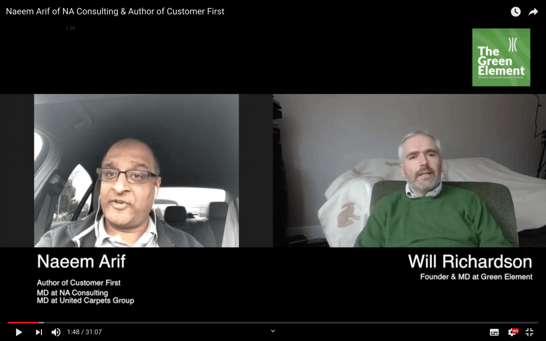 Green Element Weekly Interview with Naeem Arif – Author of Customer First