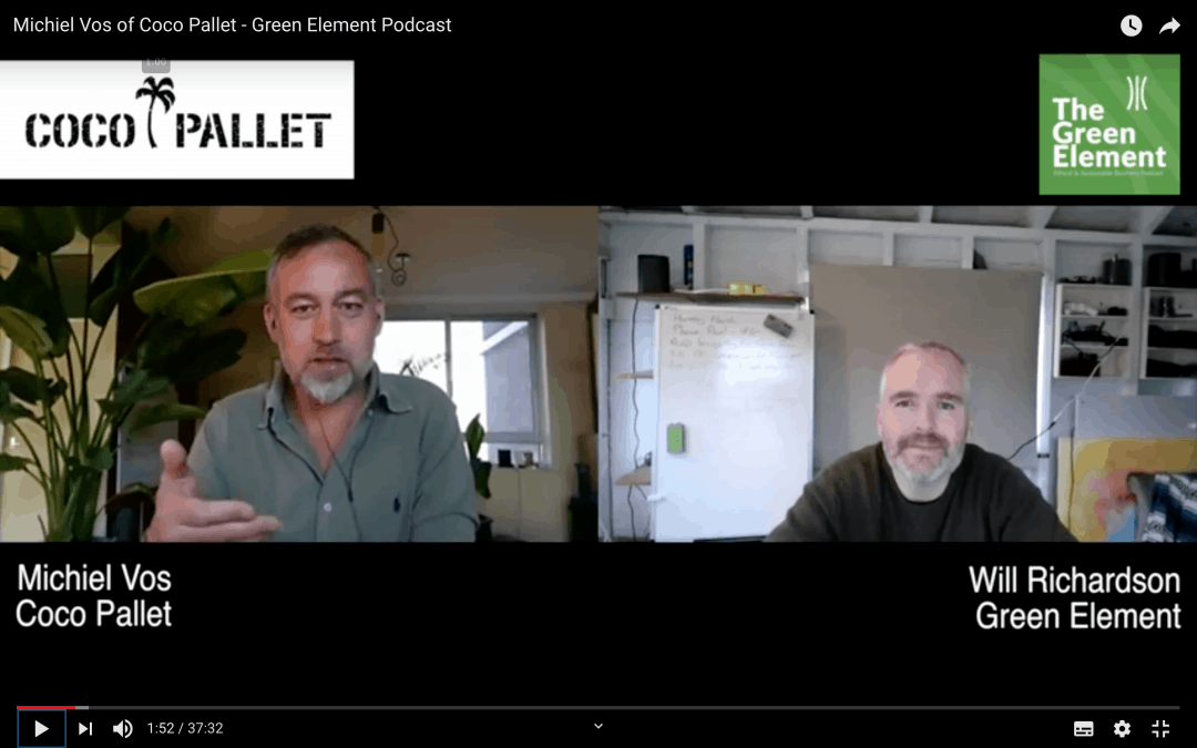 Green Element Weekly Interview with Michiel Vos – Founder & CTO of Coco Pallet